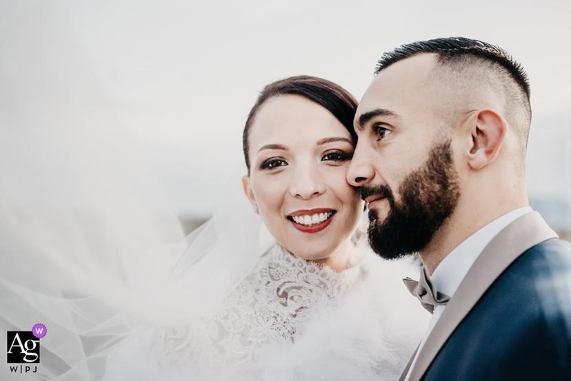 portrait de mariés au Canet-en-Roussillon aux Cabanes des Pêcheurs