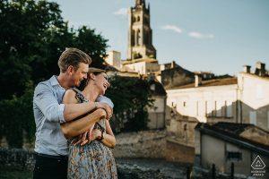 séance couple-engagement à Saint Emilion
