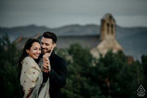 séance couple engagement en montagne à Font-Romeu en Cerdagne