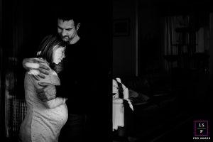 couple lors d'une séance grossesse à Font-Romeu en Cerdagne